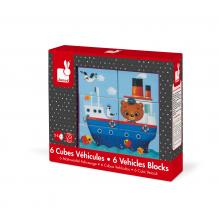6 cubes véhicules à partir de 2 ans