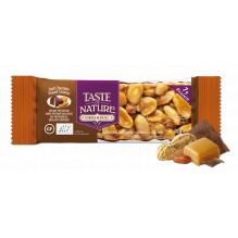 Barre aux noix et fruits secs - Chocolat noir Peenut caramel - 1 x 40 gr