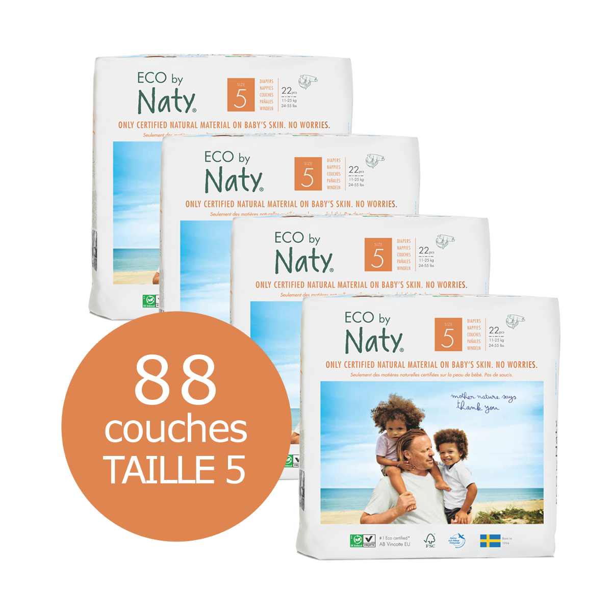 Naty By Nature Babycare Couches Taille 5