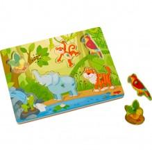 Puzzle musical 6 pièces - jungle - à partir de 2 ans