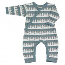 Pyjama bleu longues manches coton BIO poupées de papier
