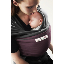 Echarpe porte-bébé: Anthracite / Prune