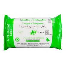 Lingettes bébé à l'huile d'olive - 100% d'origine végétale et biodégradables - sans parfum - 60