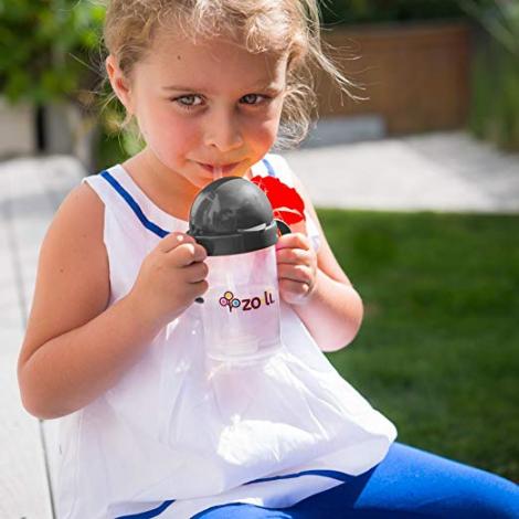 Gobelet avec paille  Sans BPA ni phthalate Gris - 180 ml