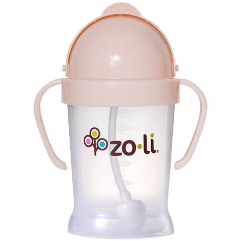 Gobelet avec paille  Sans BPA ni phthalate Rose pâle - 180 ml