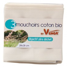 Mouchoir en coton BIO - lot de 3