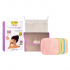 Kit Eco Belle Mini - 7 carrés démaquillants en Bambou couleur