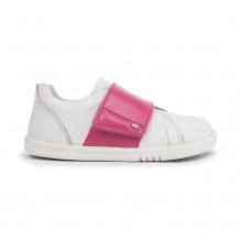 Chaussures I walk - Boston Trainer White + Pink - 635311