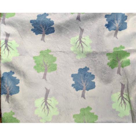Lingettes minky - Gris arbres - Lot de 25