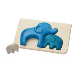 Puzzle famille éléphants - à partir de 18 mois