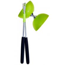 Diabolo avec baguettes en alulinium - Vert