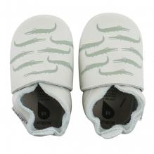 chaussons bébé Soft Sole 'mint crocodile print'