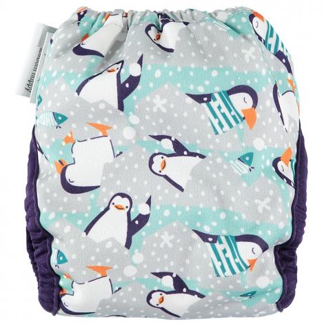 Couche lavable Pop-In Nouveaux Nés avec insert en bambou - Pingouins