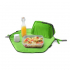 Pochette 2 en 1 - lunch bag et set de table - Vert
