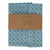 Sac à tartines - 35 x 40 cm - Fleurs bleues
