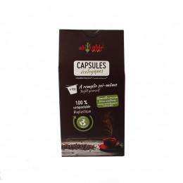 100 capsules écologiques compostables compatibles Nespresso