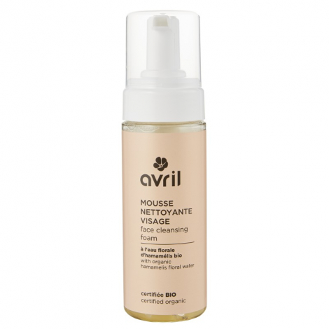Mousse nettoyante visage - hamamélis bio - 150 ml