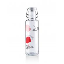 Bouteille en verre 600 ml  - Pingouin et ballons rouges