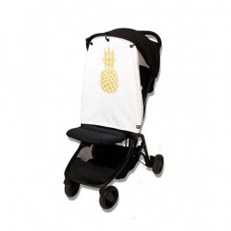 Couverture anti UV pour poussettes et sièges bébé - Ananas doré