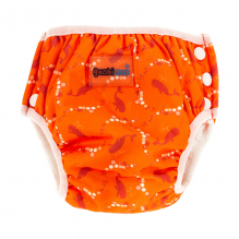 2 en 1 culotte d'apprentissage et maillot de bain - lot de 2 - Orange baleines