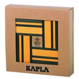 Coffret en carton contenant 40 planchettes (20 jaune + 20 vert) + Livre