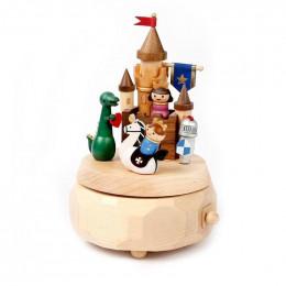 Manège musical en bois - Château