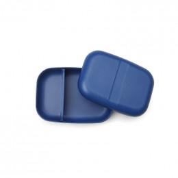 Grande boite à tartines rectangulaire avec séparateur - lunch box Bento - Bleu