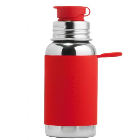 Gourde bouteille en inox - modèle sport - 550 ml - Rouge