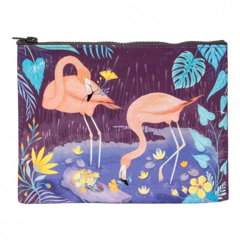 Trousse en matériaux recyclés - Flamingo