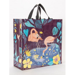 Grand cabas shopper en matériaux recyclés - Flamingo