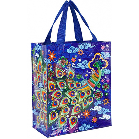 Grand cabas shopper en matériaux recyclés - Peacock