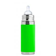 Biberon isotherme évolutif en inox - 260 ml - Tétine en silicone - à partir de 3 mois - Vert