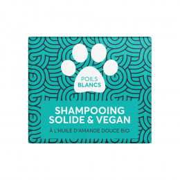 Shampooing solide pour animaux - Poils blancs - 60 ml