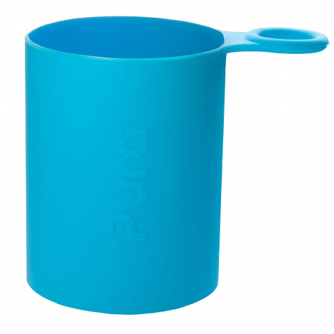 Gourde bouteille isotherme en inox - modèle sport - 650 ml - Turquoise