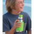 Bouchon sport en silicone pour bouteille isotherme en inox Pura - Vert