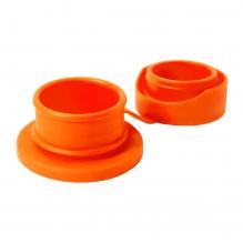 Bouchon sport en silicone pour bouteille isotherme en inox Pura - Orange
