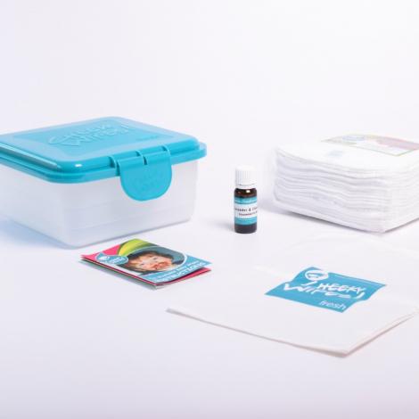 Mini kit lingettes - Zero twist coton - blanc - lavande / camomille