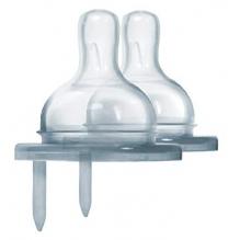 Tétine en silicone pour bouteille isotherme en inox Pura - à partir de 6 mois - Lot de 2