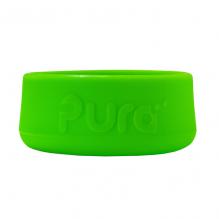 Socle en silicone pour biberon évolutif en inox Pura - Vert