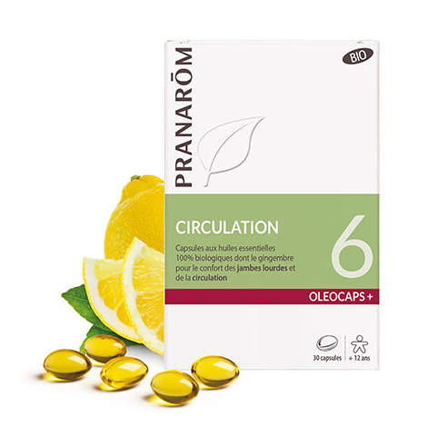Oleocaps + BIO N°6 - Circulation - 30 capsules - A partir de 12 ans