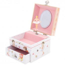 Coffret à bijoux musical en bois - Cupcake - à partir de 3 ans
