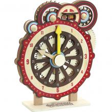 Machinalireleur en bois - Horloge d'apprentissage manuelle - à partir de 6 ans