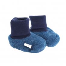 Chaussons en polaire de laine - Jeans