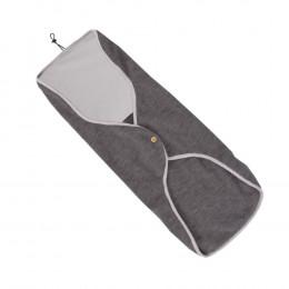 Enveloppe pour siège auto en polaire de laine - Anthracite
