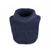Tour de cou en polaire de laine - Bleu foncé