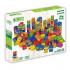 100 blocs de construction et 3 plaques vertes - à partir de 18 mois