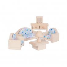 Salon bois maison de poupée - à partir de 3 ans