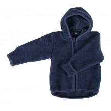 Gilet veste à capuche - Polaire de laine - Bleu foncé
