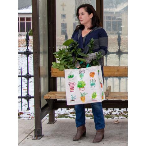 Grand cabas shopper en matériaux recyclés - Proud plant Mom