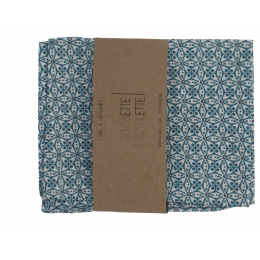 Sac à légumes - 31 x 39 cm - Fleurs bleues